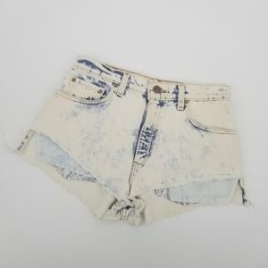 Levi's 550 Vintage High Rise Acid Wash Shorts